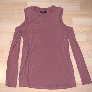 Topshop cutout long sleeve blouse, 2